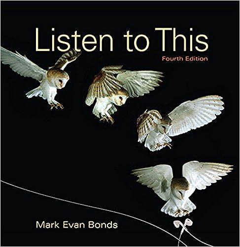 Amazon com: Listen to This (4th Edition) (9780134419510): Mark Evan