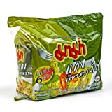 roman noodle cooker - Mama Noodle Thai Chicken Green Curry Flavor Instant Noodles- Pack of 6