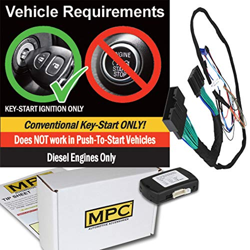 Ford E-350 Starter - MPC Complete Plug-n-Play Factory Remote Activated Remote Start Kit for 2017-2019 Ford F-350 - with Bypass - Firmware Preloaded