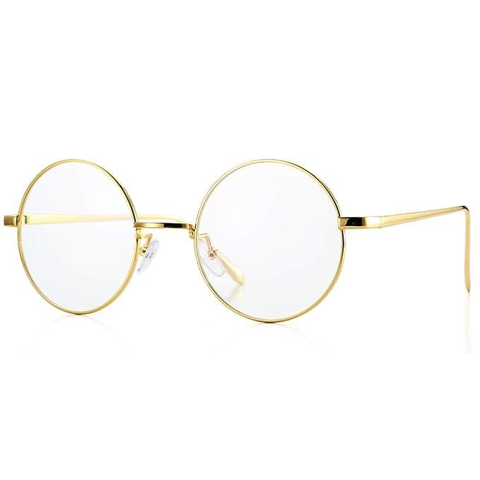 Amazon.com: Pro Acme Retro - Gafas de sol redondas de metal ...