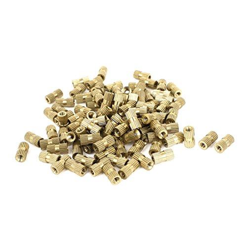 M3x10mm(L)-5mm(OD) Metric Threaded Nut Brass Knurl Insert Nuts 100 Pcs