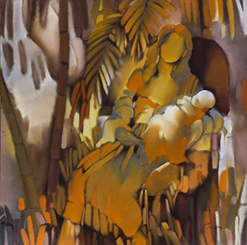 Original Oil on Canvas Painting - Within - Hand Made, High Q., Fine (Tropical Art Paintings)