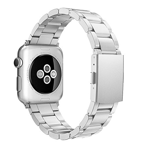 Simpeak Replacement for Apple Watch Band 38mm 40mm Women Men Stailess Steel Metal Band Strap for iWatch Series 4 Series 3, Series 2, Series 1, Silver
