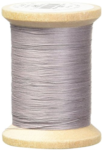 YLI 21104-011 3-Ply T-40 Cotton Hand Quilting Thread, 400 yd, Grey