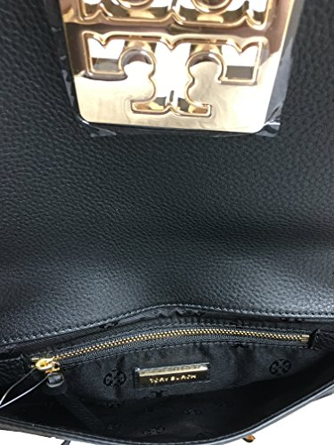 Women's Leather Crossbody handbag Tory Chain Black Burch 39055 Britten Clutch FwqxPq46g7