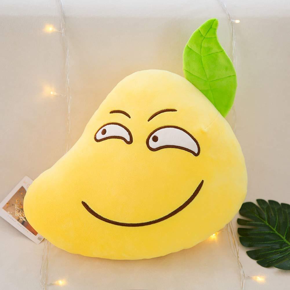 GJC Hug Pillow Creative Funny Down Cotton Pillow Cartoon Fruit Doll Toy Kissen,A,25CM