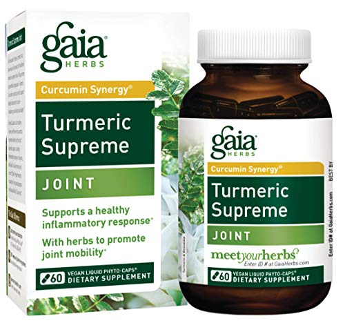 Gaia Herbs Turmeric Supreme Joint, Vegan Liquid Capsules, 60 Count - Turmeric Curcumin Supplement Supports Joint Health & Mobility, Occasional Pain