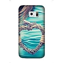 Samsung Galaxy S6 Case, Non-Slip hands heart plexus t-shirt Pattern Case Slim Samsung Galaxy S6 Hard Case Design By [Andrea Novak]