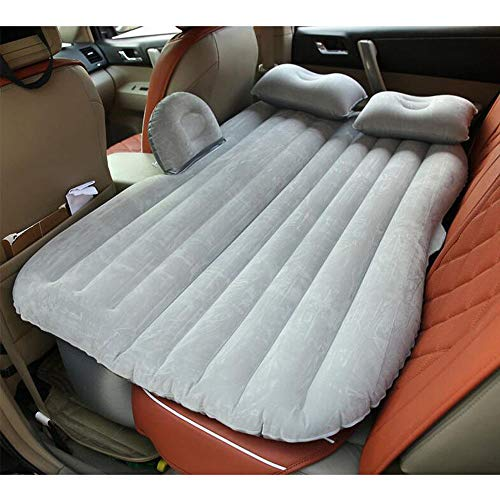 Gray Car Self-Drive Air Bed Sleeping Seat Inflatable Back Seat Mattress + Pillow/Pump from Garden at Home