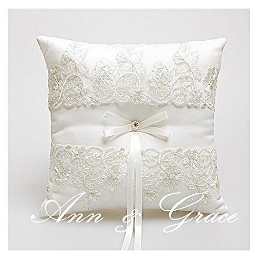 Ring Bearer Pillow Ivory Wedding product image