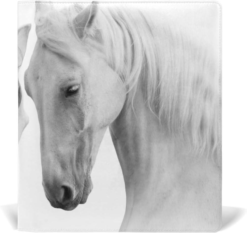 Fundas para libros de tapa blanda Jumbo Protector chamarra durable escuela reutilizable caballo blanco