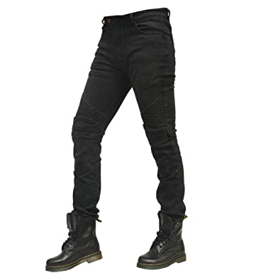 47d2d9ecaa6d Amazon.com  Men Motorcycle Riding Denim Jeans Slim Fit Cycling Pants with 4  X Protect Pads Equipment  Clothing