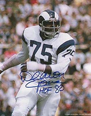 Autographed Deacon Jones 8x10 Photo Los Angeles Rams with COA
