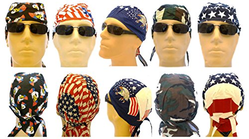 Buy Caps and Hats Doo Rag American Flag Cotton Caps One Size Mens (Flag Doo Rag)
