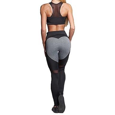 117dcd7918f063 Damen Mesh Leggings Yoga Hose - Frauen Gym Sport Yoga Pants Printed Fitness Sporthose  Jogginghose Trainingshose Laufen Hose Stretch Leggings Running ...