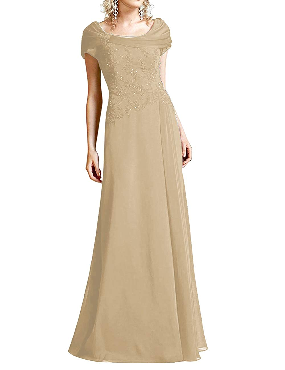 Champagne H.S.D Mother of The Bride Dresses Lace Formal Gowns Long Evening Dress Prom Wrap Shawl
