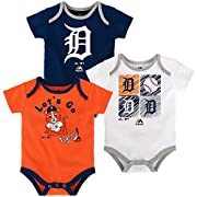 Detroit Tigers Baby / Infant Go Team 3 Piece Creeper Set 12 Months