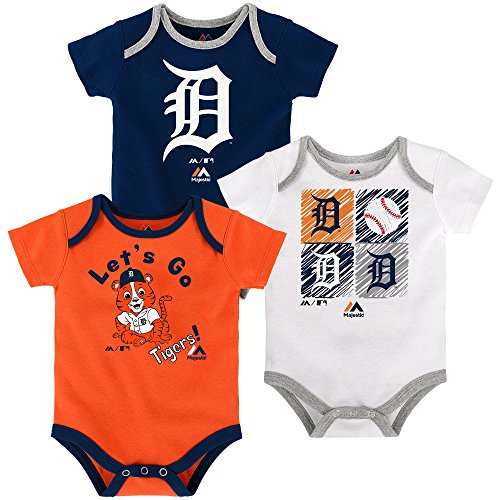 Detroit Tigers Baby/Infant Go Team 3 Piece Creeper Set 12 Months