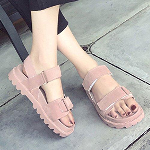 A Con Studentessa Pink Coreano Piatto Scarpe Estiva Spesso Stile 1 Di Fondo Plateau Sandali Harajuku vatxnp