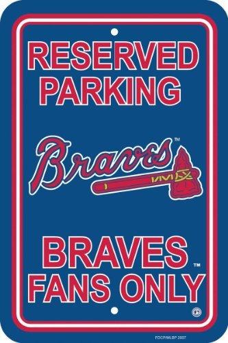- MLB Atlanta Braves Plastic Parking Sign