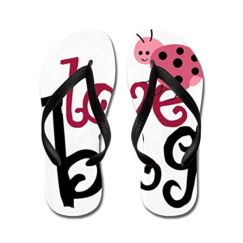 CafePress Lovebug - Flip Flops, Funny Thong Sandals, Beach Sandals Black