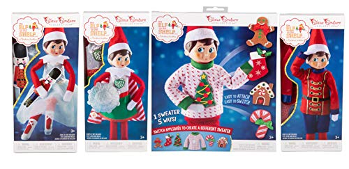 Elf on The Shelf Sweater, Superhero, Solider, and Sugar Plum -