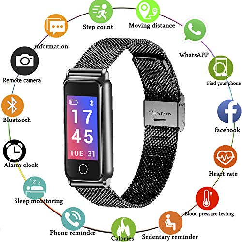 Fenglii Fitness Activity Tracker with Heart Rate Color Screen for Android & iOS