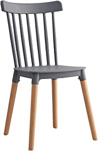 RXBFD Nordic Windsor Chair Ins Chair, Simple Dining Chair - PP Material + Oak Chair Legs, Ergonomic Cabinet Design, for Restaurant/Office/Counter/Family