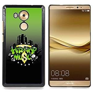 Hip-hop Music Caja protectora de pl??stico duro Dise?¡Àado King Case For Huawei Mate 8