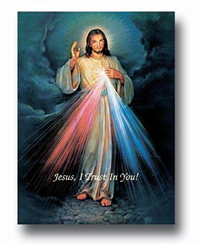 (10 8/18) DIVINE MERCY Fine Art Print Poster Golde Embossed 19