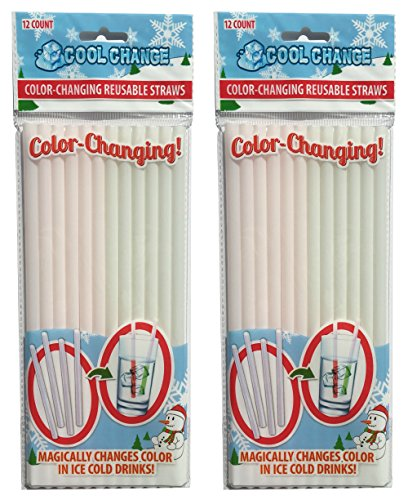 Color Change Straws (2 packages)- Christmas Party Favorite (Christmas Party Ideas For Teens)