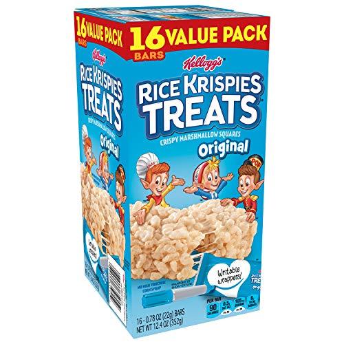 Kellogg's Rice Krispies Treats, Crispy Marshmallow Squares, Original, Bulk Size, 96 Count (Pack of 6, 12.4 oz ()