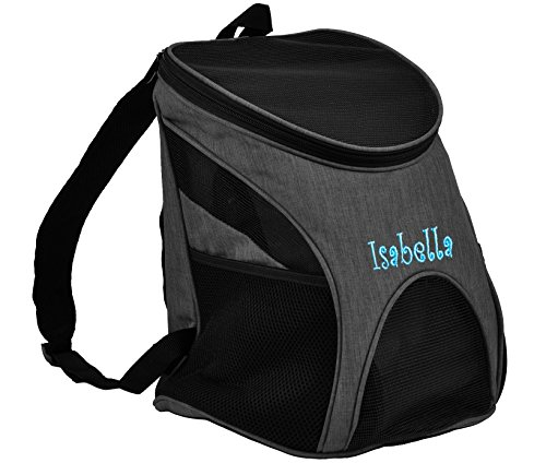Dogline Personalized Front and Backpack for Dogs/Cats - Two Sizes - AIRLINE APPROVED - Medium - Personalized Pet Carrier