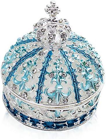 クラウンジュエリーボックス、トリンケットボックス、指輪やピアス、ネックレスなどのアクセサリー入れ宝石箱