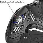 WLXW Masque De Protection Tactique Airsoft, Masque Complet Double Mode Portant Conception avec Sangle Réglable pour… 10