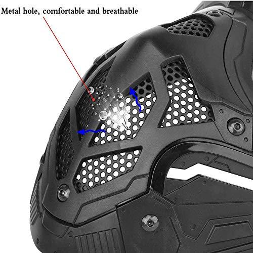 WLXW Masque De Protection Tactique Airsoft, Masque Complet Double Mode Portant Conception avec Sangle Réglable pour… 5