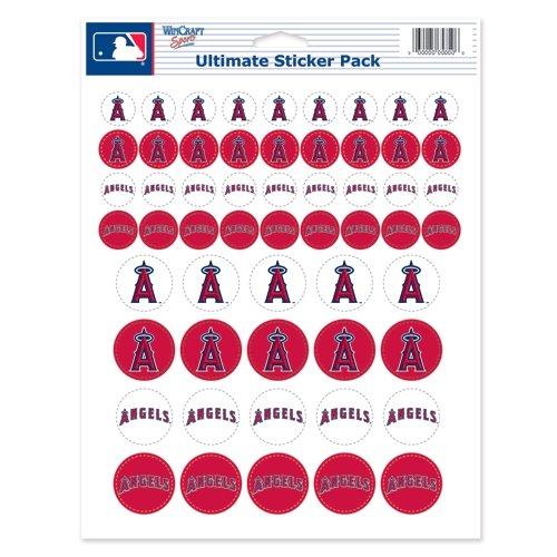 WinCraft MLB Angels Vinyl Sticker Sheet, 8.5