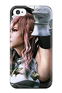 4/4s Scratch-proof Protection Case Cover For Iphone/ Hot Final Fantasy Xiii 2 Lightning Phone Case by icecream design