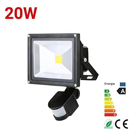 ALPHA DIMA 20W Foco LED con Sensor Movimiento Foco Exterior LED Con Sensor Proyector 1800Lumen LED