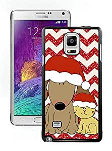 Provide Personalized Customized Christmas Dog and Cat Black Samsung Galaxy Note 4 Case 1