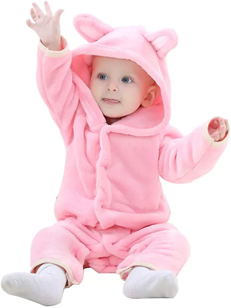 SWEETHA Winter Baby Rompers Boys Girls Infant Jumpsuits Cartoon Warm Baby Clothes