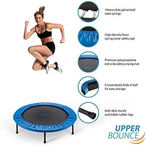 40 Inch 101cm Mini Fitness Exercise Trampoline Rebounder for Gym, Upper Bounce
