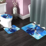 3 Pieces Bath Mats Set for Fall Gift, Skidproof