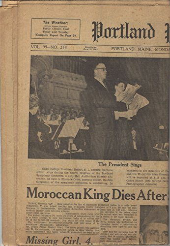Portland Press Herald  February 27  1961  Moroccan King Dies After Surgery  Mammoth Storm In Ohio  Colby College New President And Various