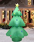 Fashionlite 8 Feet Christmas Xmas Inflatable Tree Flashing Colorful Lighted Blow-Up Yard Party Decoration