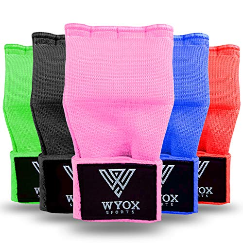 WYOX Boxing Hand Wraps Gel Knuckle Padded Inner Elastic Quick Wraps Fist Protection Boxing Gloves for Women Men Wrist…