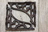 Antique style Small Cast Iron Shelf Brackets Curio Size 4 inches, Set of 2, B-71