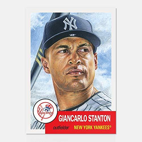 TOPLOADER GIANCARLO STANTON TOPPS LIVING SET 2018 BASEBALL CARD 58 NY YANKEES w//FACSIMILE SIGNATURE