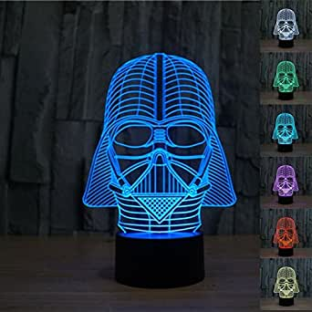 3d Star Wars Darth Vader LED Light Table Lamp Night Light Kids Room Bedroom Gift