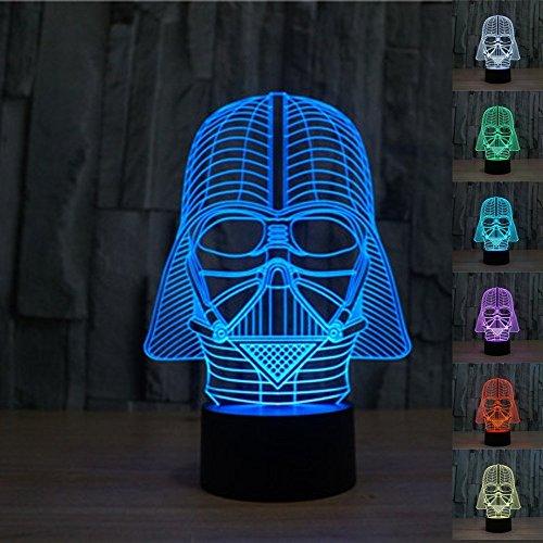 3d Star Wars Darth Vader LED Light Table Lamp Night Light...